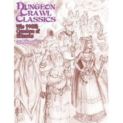 Dungeon Crawl Classics - #88 The 998th Conclave of Wizards Sketch Cover - 401 Games