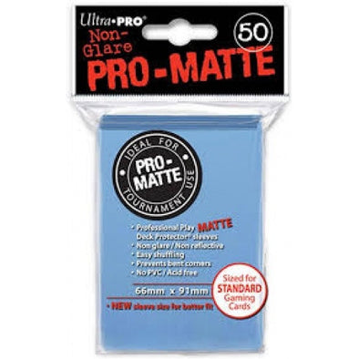 Buy Ultra Pro - Standard Card Sleeves 50ct - Pro-Matte - Light Blue and more Great Sleeves & Supplies Products at 401 Games