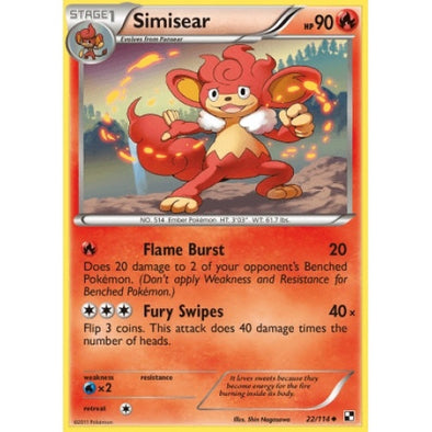 Buy Simisear - 22/114 and more Great Pokemon Products at 401 Games