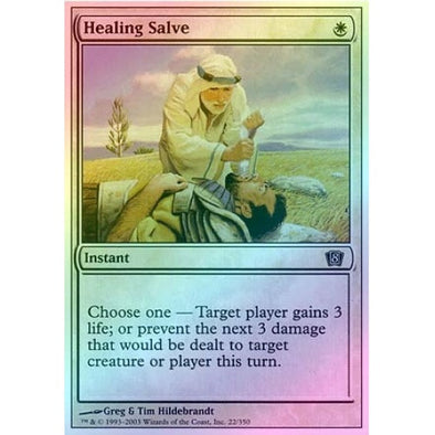 Healing Salve (Foil) available at 401 Games Canada