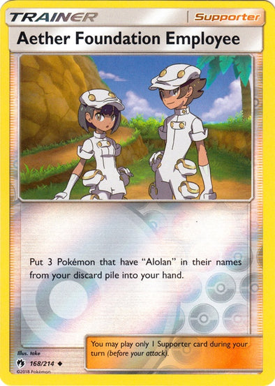 Buy Aether Foundation Employee - 168/214 - Reverse Foil and more Great Pokemon Products at 401 Games