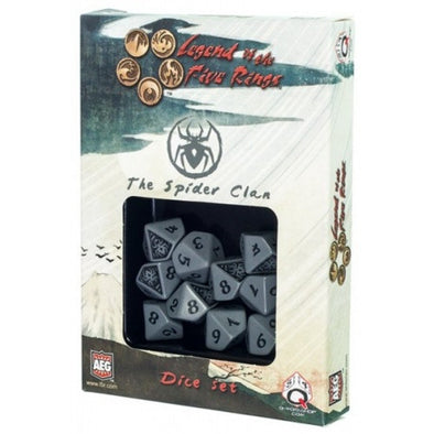 Dice Set - Q-Workshop - Legend of the Five Rings - Spider Clan - 401 Games
