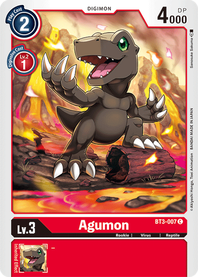 Agumon (BT3-007) available at 401 Games Canada