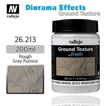 Vallejo - Diorama Effects - Ground Texture - Rough Grey Pumice - 401 Games