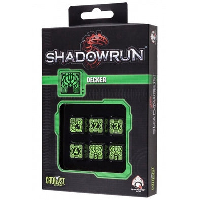 Buy Dice Set - Q-Workshop - 6D6 - Shadowrun - Decker and more Great Dice Products at 401 Games