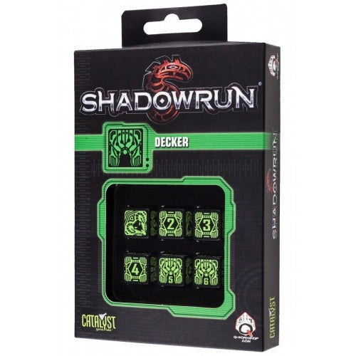 Dice Set - Q-Workshop - 6D6 - Shadowrun - Decker - 401 Games