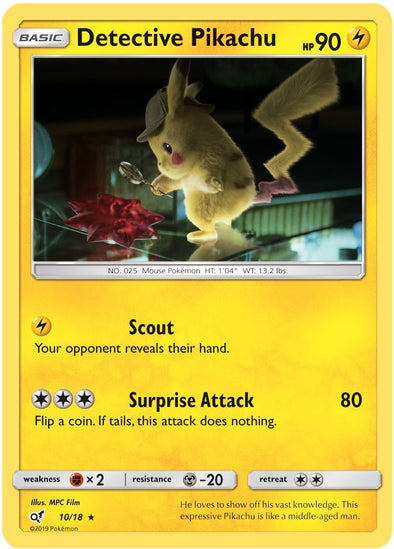 Buy Detective Pikachu - 10/18 and more Great Pokemon Products at 401 Games