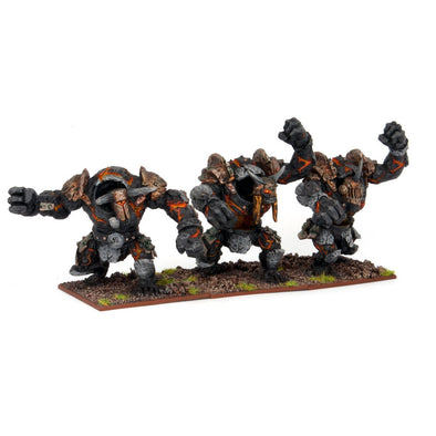 Kings of War - Abyssal Dwarfs - Lesser Obsidian Golem Regiment