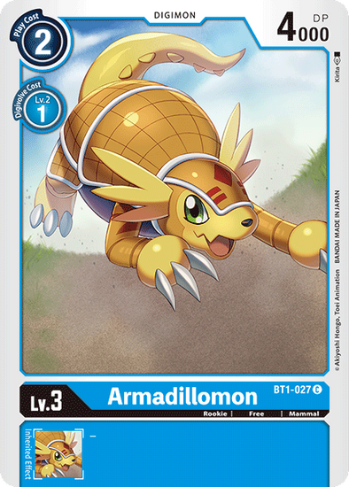 Armadillomon (BT1-027) available at 401 Games Canada