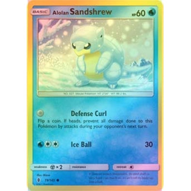 Buy Alolan Sandshrew - 19/145 - Reverse Foil and more Great Pokemon Products at 401 Games
