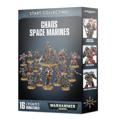 Warhammer 40,000 - Start Collecting! Chaos Space Marines available at 401 Games Canada