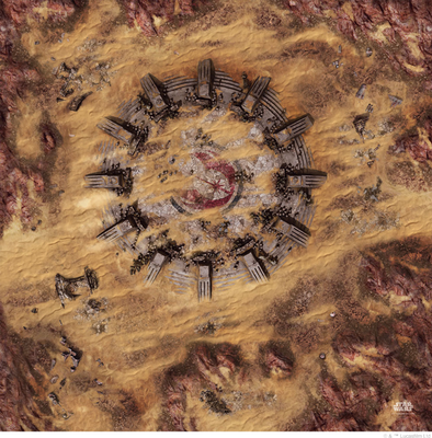 Star Wars - Legion - Desert Ruins Game Mat - 401 Games