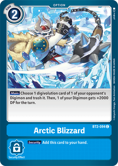 Arctic Blizzard (BT2-094) available at 401 Games Canada