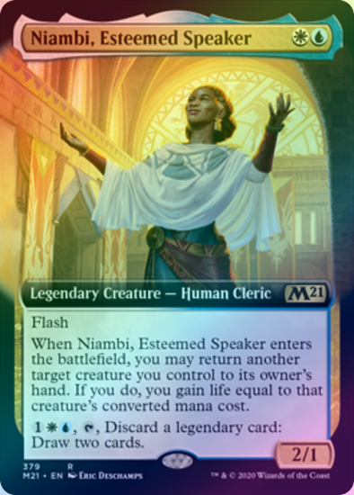 Niambi, Esteemed Speaker (Extended Art) (FOIL) (M21) available at 401 Games Canada