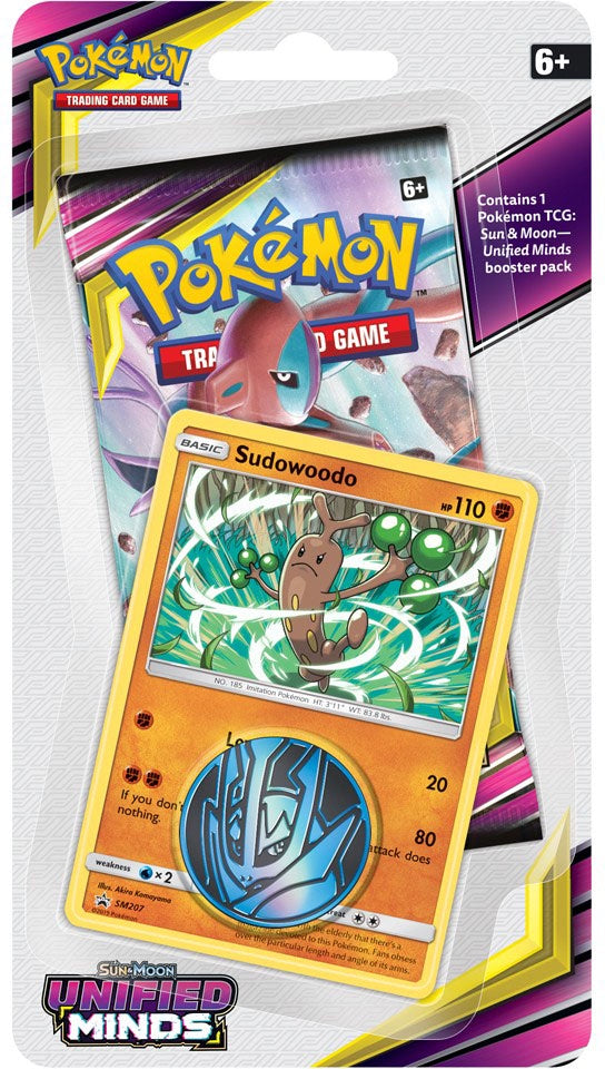 Buy Pokemon - Unified Minds Check Lane Blister Pack - Sudowoodo (Pre-Order July 29th, 2019) and more Great Pokemon Products at 401 Games