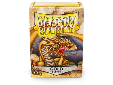 Buy Dragon Shield - 100ct Standard Size - Gold Matte and more Great Sleeves & Supplies Products at 401 Games