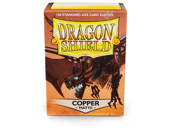 Buy Dragon Shield - 100ct Standard Size - Copper Matte and more Great Sleeves & Supplies Products at 401 Games