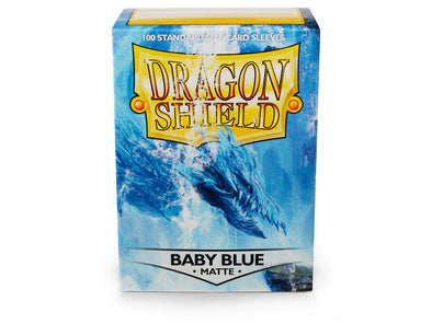 Buy Dragon Shield - 100ct Standard Size - Baby Blue Matte and more Great Sleeves & Supplies Products at 401 Games