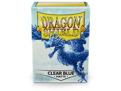 Buy Dragon Shield - 100ct Standard Size - Clear Blue Matte and more Great Sleeves & Supplies Products at 401 Games