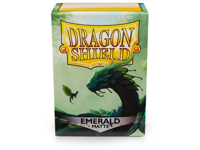 Buy Dragon Shield - 100ct Standard Size - Emerald Matte and more Great Sleeves & Supplies Products at 401 Games