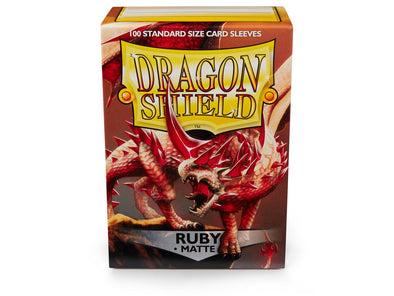 Dragon Shield - 100ct Standard Size - Ruby Matte