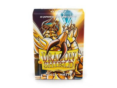 Buy Dragon Shield - 60ct Japanese Size - Gold Matte and more Great Sleeves & Supplies Products at 401 Games