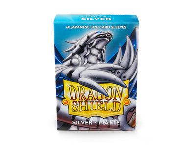 Buy Dragon Shield - 60ct Japanese Size - Silver Matte and more Great Sleeves & Supplies Products at 401 Games