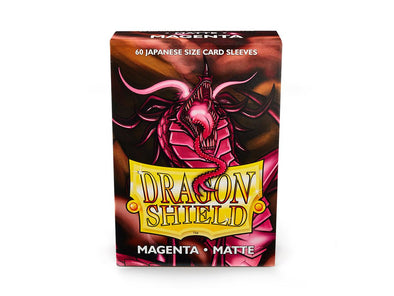 Buy Dragon Shield - 60ct Japanese Size - Magenta Matte and more Great Sleeves & Supplies Products at 401 Games