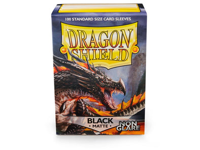 Dragon Shield - 100ct Standard Size - Black Matte - Non Glare - 401 Games