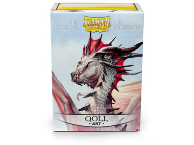 Buy Dragon Shield - 100ct Standard Size - Art - Qoll and more Great Sleeves & Supplies Products at 401 Games