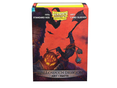 Dragon Shield - 100ct Standard Size - Art - Halloween Dragon Matte - 401 Games