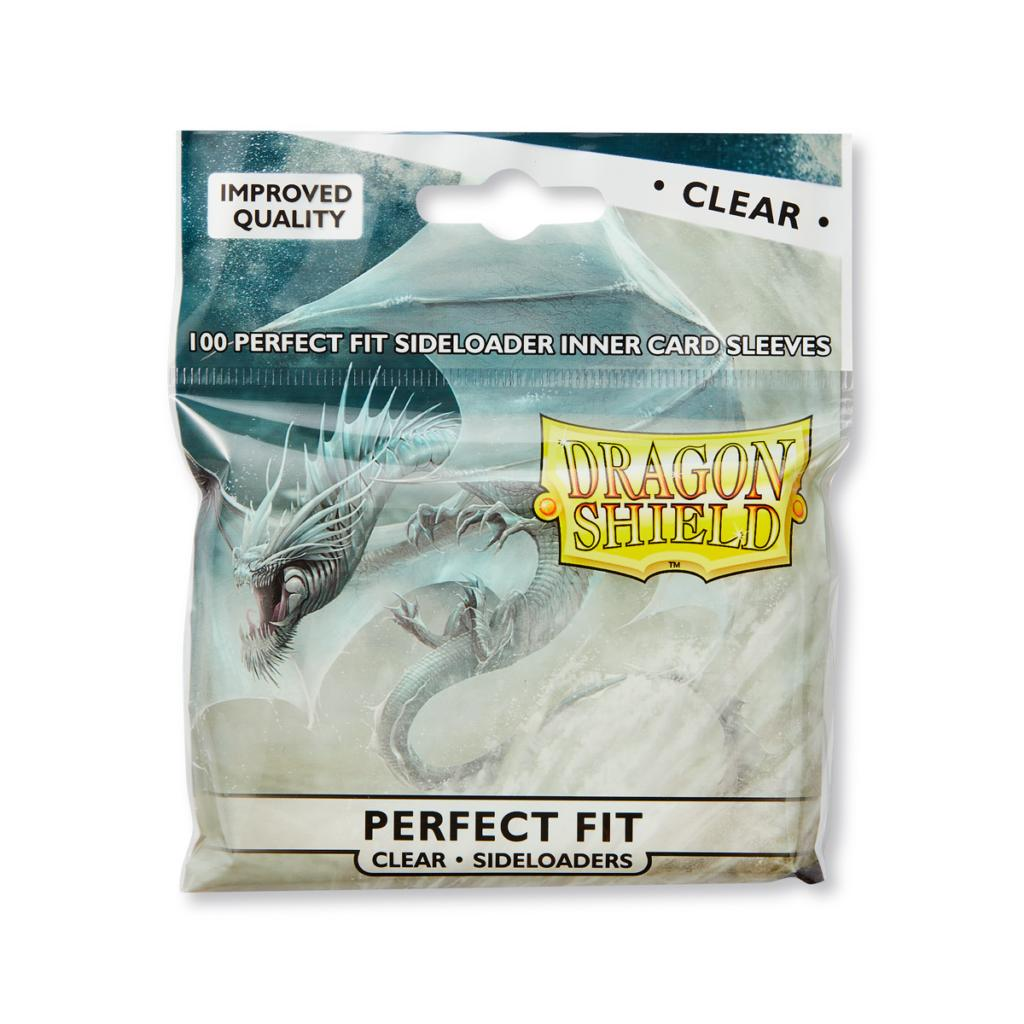 Dragon Shield - 100ct Standard Size - Perfect Fit Sideloading- Clear