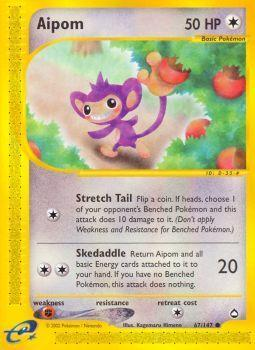 Buy Aipom - 67/147 and more Great Pokemon Products at 401 Games
