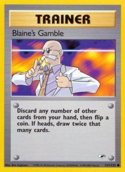 Buy Blaine's Gamble - 121/132 - Unlimited (GYMH) and more Great Pokemon Products at 401 Games