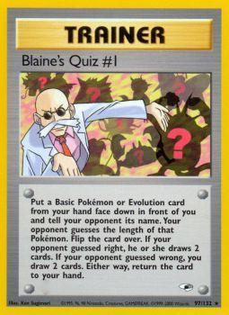 Buy Blaine's Quiz #1 - 97/132 - Unlimited (GYMH) and more Great Pokemon Products at 401 Games