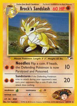 Buy Brock's Sandslash - 23/132 - Unlimited (GYMH) and more Great Pokemon Products at 401 Games