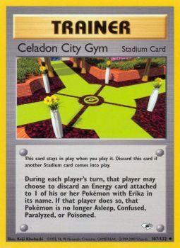 Buy Celadon City Gym - 107/132 - Unlimited (GYMH) and more Great Pokemon Products at 401 Games