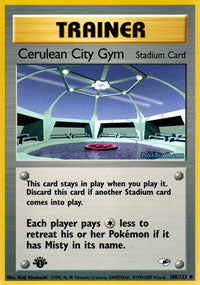 Buy Cerulean City Gym - 108/132 - 1st Ed (1GYMH) and more Great Pokemon Products at 401 Games