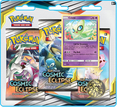 Pokemon - Cosmic Eclipse 3 Pack Blister - Celebi (Pre-Order Oct 28th 2019)