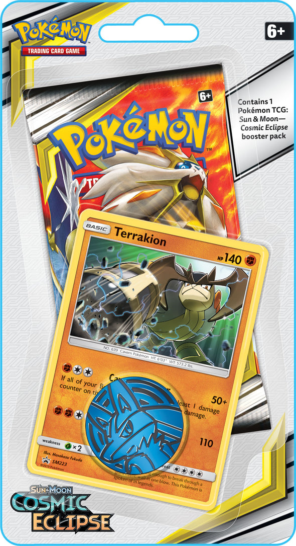 Pokemon - Cosmic Eclipse Check Lane Blister - Terrakion - 401 Games