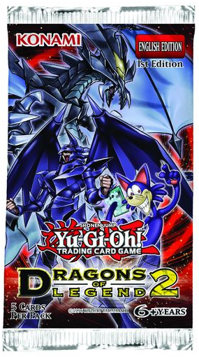 Yugioh - Dragons of Legend 2 Booster Pack available at 401 Games Canada