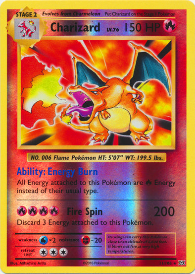 Buy Charizard - 11/108 - Reverse Foil and more Great Pokemon Products at 401 Games