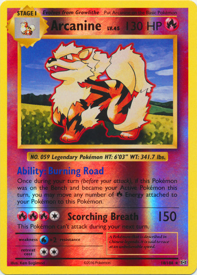 Buy Arcanine - 18/108 - Reverse Foil and more Great Pokemon Products at 401 Games