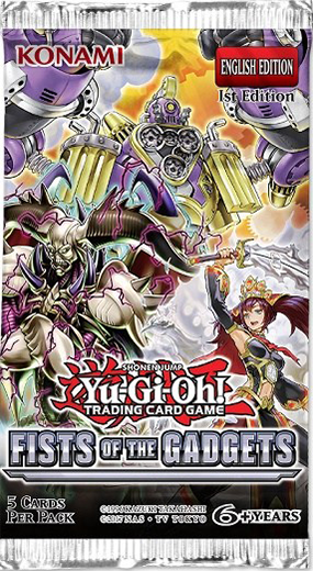 Yugioh - Fists of the Gadgets Booster Pack available at 401 Games Canada