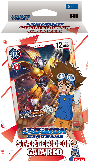 "Digimon Card Game - Starter Deck ""Gaia Red"" (Pre-Order January 29, 2021) - 401 Games"