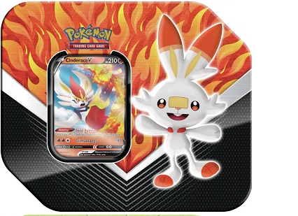 Pokemon - Galar Partnership Tin - Cinderace V - 401 Games