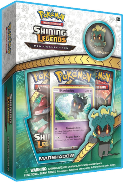 Buy Pokemon - Shining Legends - Marshadow Pin Box and more Great Pokemon Products at 401 Games