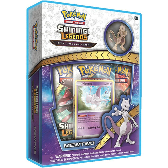 Buy Pokemon - Shining Legends - Mewtwo Pin Collection and more Great Pokemon Products at 401 Games