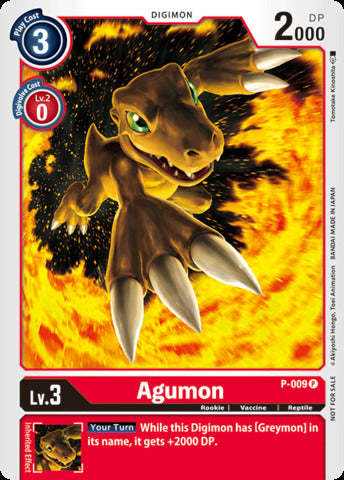 Agumon (Promo P-009) available at 401 Games Canada