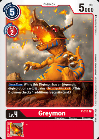 Greymon (Promo P-010) available at 401 Games Canada